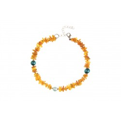 Amber collar with beads (25-30cm)