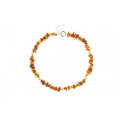 Amber collar with colorful beads (40-45cm)