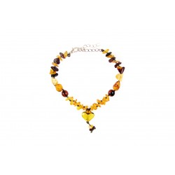 Amber jewelry with a heart for your pets (20-25cm.)