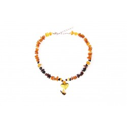 Amber jewelry with a heart for your pets (30-35cm.)