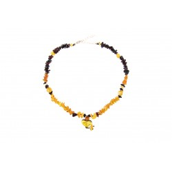 Amber jewelry with a heart for your pets (35-40cm.)